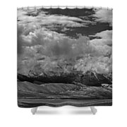2d07517-bw Storm Over Lost River Range Shower Curtain