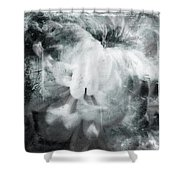 #2flora Shower Curtain