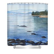 2nd Beach, Vancouver Shower Curtain