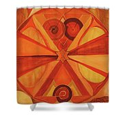 2nd Mandala - Sacral Chakra Shower Curtain