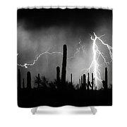 2nd Shot - 1 Shoot  Bw Version Shower Curtain