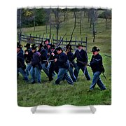 2nd Wi Infantry Black Hats Shower Curtain