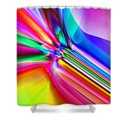 2x1 Abstract 303 Shower Curtain
