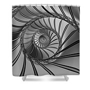 2x1 Abstract 434 Bw Shower Curtain
