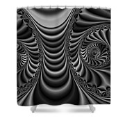 2x1 Abstract 435 Bw Shower Curtain