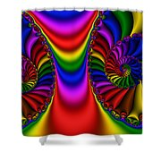 2x1 Abstract 440 Shower Curtain