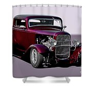1932 Ford 'three Window' Coupe   Shower Curtain