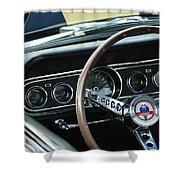1966 Ford Mustang Cobra Steering Wheel Shower Curtain