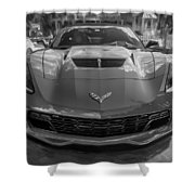 2015 Chevrolet Corvette Zo6 Painted  Shower Curtain
