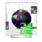 3-23-2015dabcdefghijklmnopqrtuvwxyz Shower Curtain