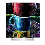 3 4 Coffee Shower Curtain