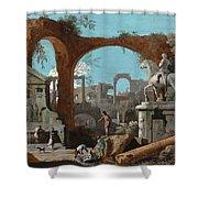 A Capriccio Of Roman Ruins Shower Curtain