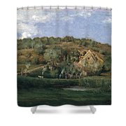 A French Homestead Shower Curtain