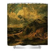 A Heath Painting Painted Originally Shower Curtain