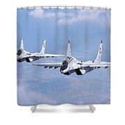 A Pair Of Bulgarian Air Force Mig-29s Shower Curtain