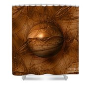 Abstract Brown Globe Shower Curtain