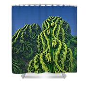 Abstract Fractal Landscape Shower Curtain