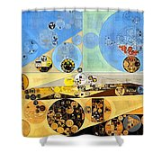 Abstract Painting - Brown Pod Shower Curtain