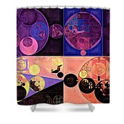 Abstract Painting - Seal Brown Shower Curtain