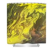 Abstract Pour  Shower Curtain