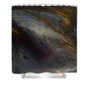 Abstract Resin Pour Shower Curtain