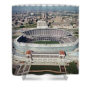 Aerial View Of A Stadium, Soldier Shower Curtain