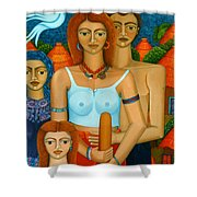 3 Ages Of A Woman And A Man Shower Curtain