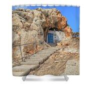 Agioi Saranta Cave Church - Cyprus Shower Curtain