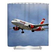 Air Canada Rouge Airbus A319 Shower Curtain