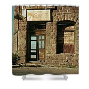 American Pool Hall  Version 2 Facade Ghost Town Jerome Arizona 1968 Shower Curtain