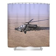 An Ah-64d Apache Longbow Fires A Hydra Shower Curtain