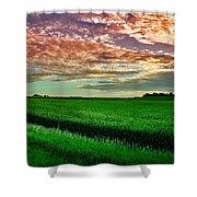 An Iowa Sunset Shower Curtain