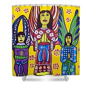 3 Angels Shower Curtain