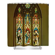 3 Apostles South Stained Glass Window Christ Church Cathedral 1 Shower Curtain