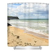 Arromanches Beach Shower Curtain