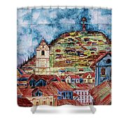 Artisan Market In Quito Shower Curtain