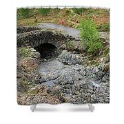 Ashness Stone Packhorse Bridge, Lake District National Park Shower Curtain