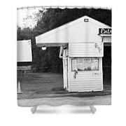Auburn, Ny - Drive-in Theater Bw Shower Curtain