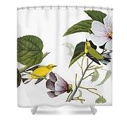 Audubon: Warbler, (1827-38) Shower Curtain