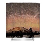 Aurora Borealis And Milky Way Shower Curtain