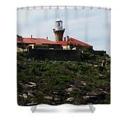Australia - Barrenjoey Lighthouse On Solid Rock Shower Curtain