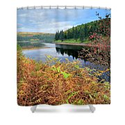 Autumn Derwent Reservoir Derbyshire Peak District Shower Curtain