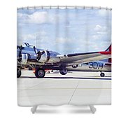 B-17 Bomber 5 Shower Curtain