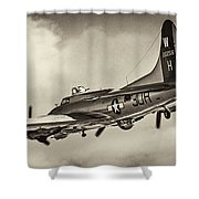B17 Flying Fortress Shower Curtain