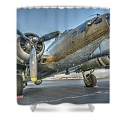 B17 Flying Fortress On The Ramp At Livermore Shower Curtain