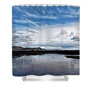 Back Beach 2 - Lyme Regis Shower Curtain