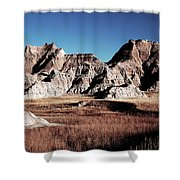 Badlands At Sunset Shower Curtain