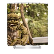 Bali Sculptures Shower Curtain