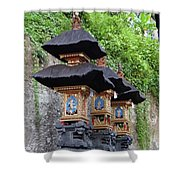 3 Bali Shrines Shower Curtain