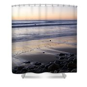 Ballynaclash Beach At Dawn Shower Curtain